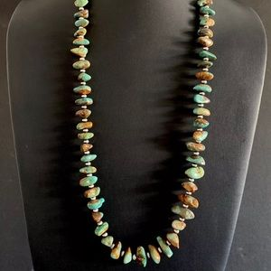 Jewelry - S.S.Green TurquoiseNuggetswithNavajoPearlsNecklace